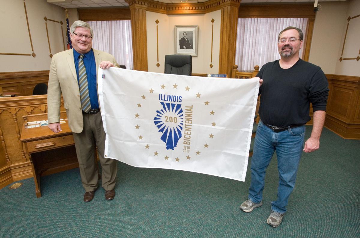 Illinois Bicentennial Flag 11/29/17