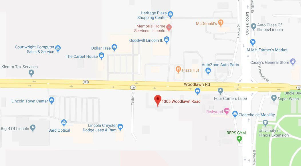 Map - 1305 Woodlawn Rd, Lincoln