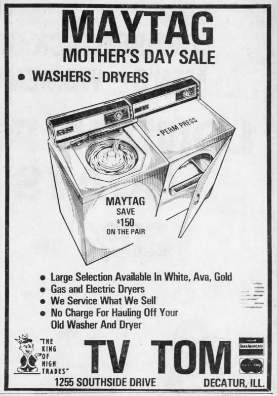 Mother's Day: Vintage ads from the Herald & Review archives