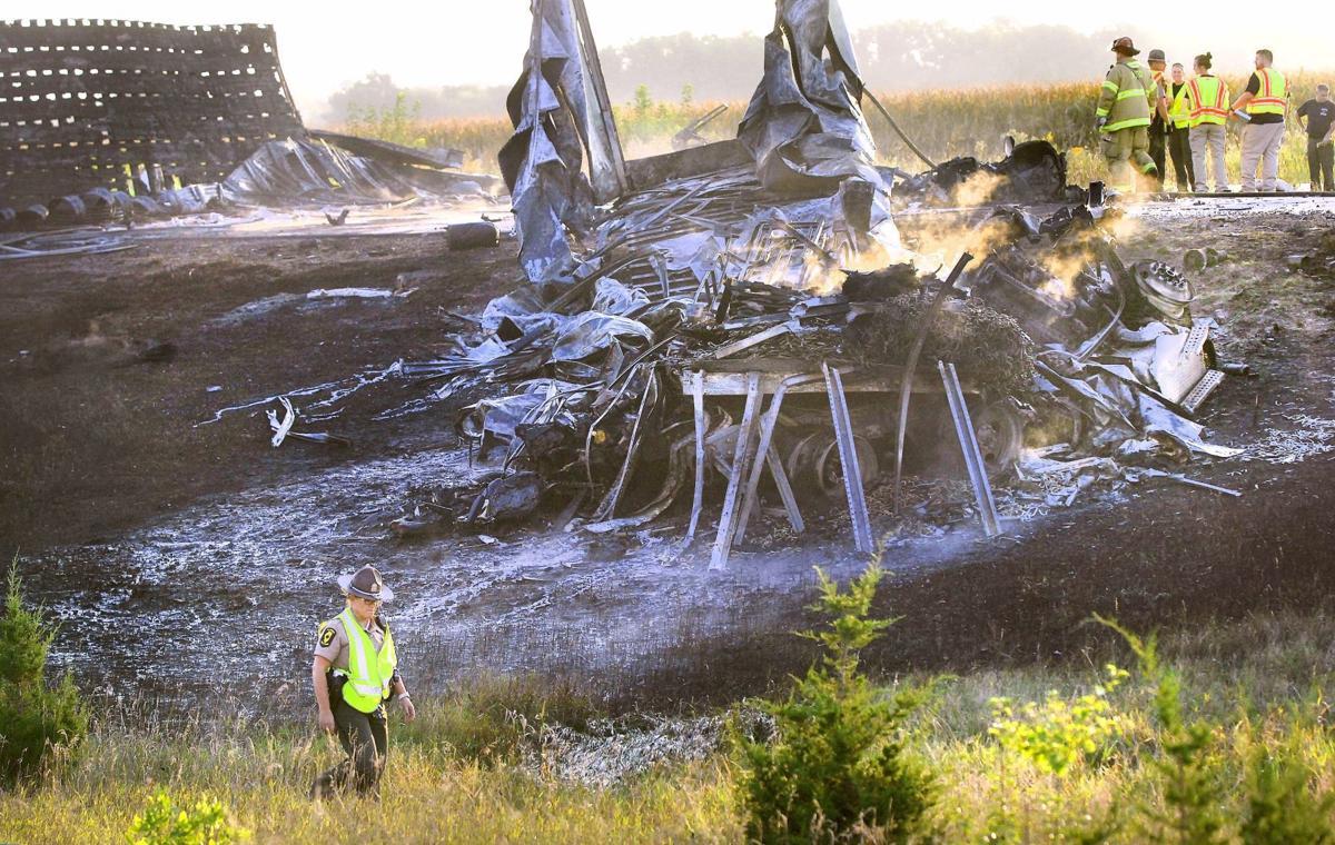 Video shows fiery semitruck crash that killed 3 on I-39 near