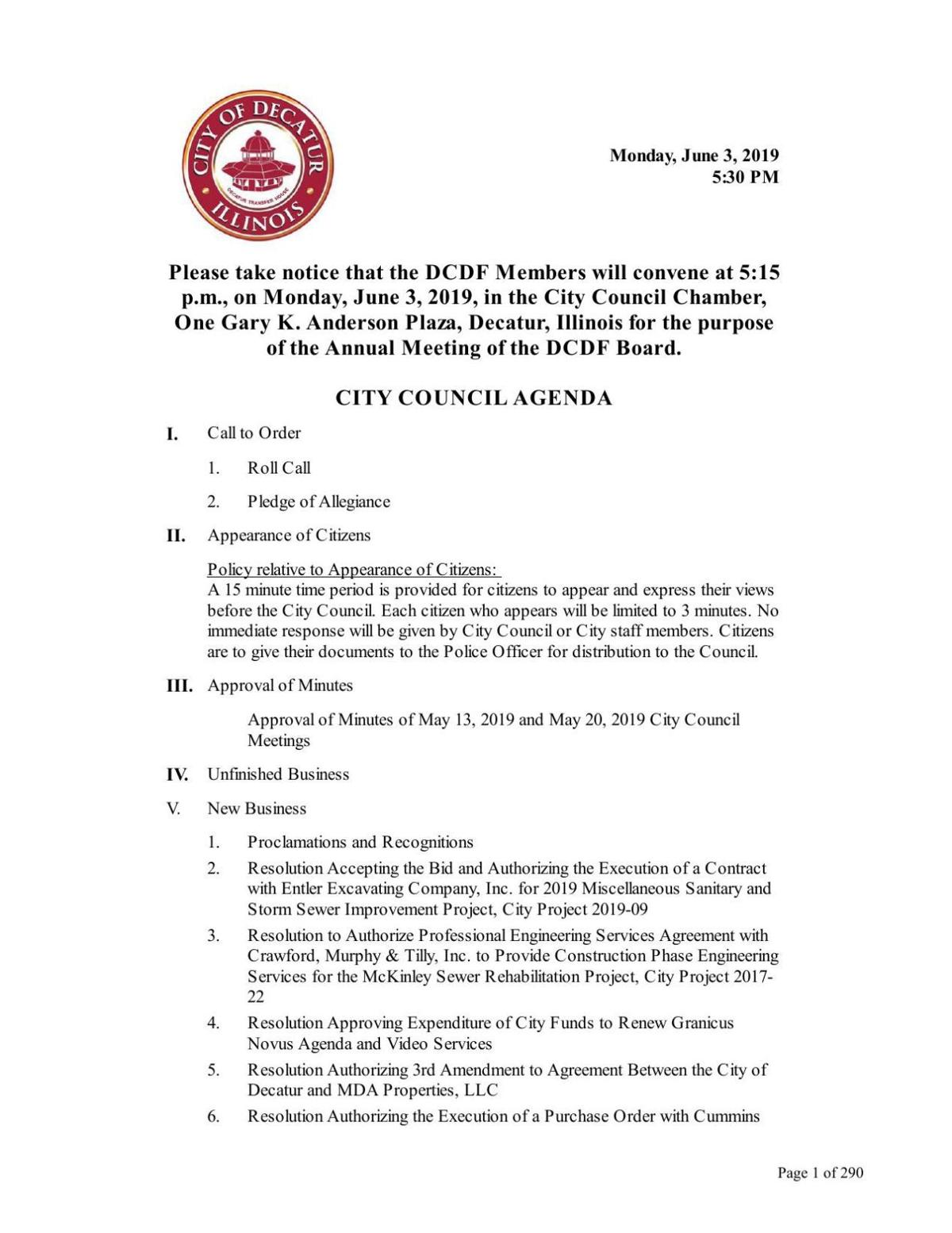 City council packet 6.3.19