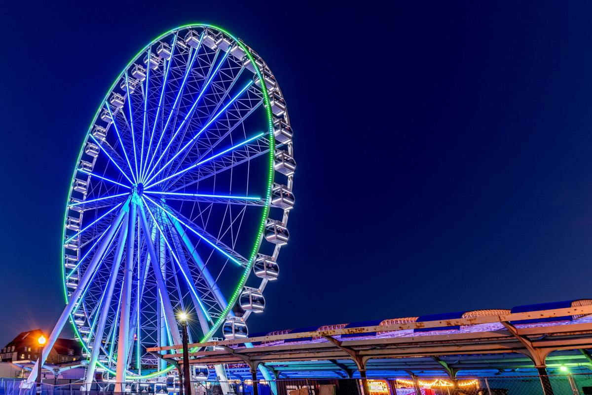 The Wheel beautifully lit up
