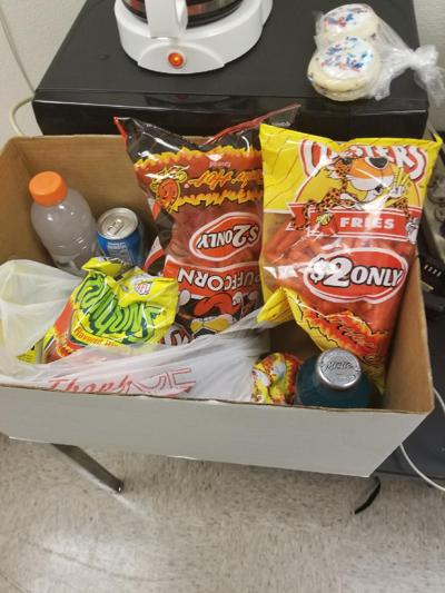 Confiscated snacks at East St. Louis High School
