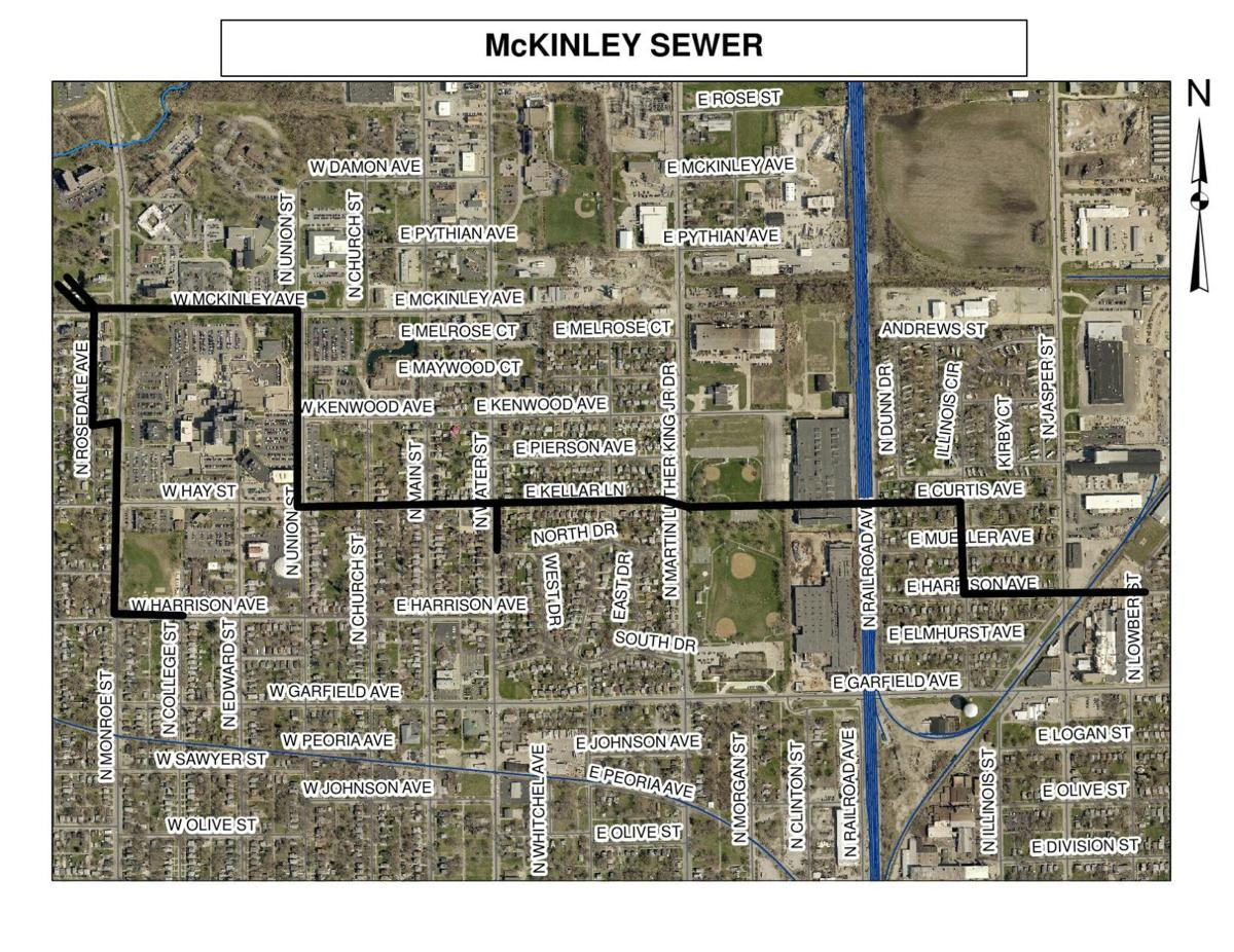 McKinley Sewer map