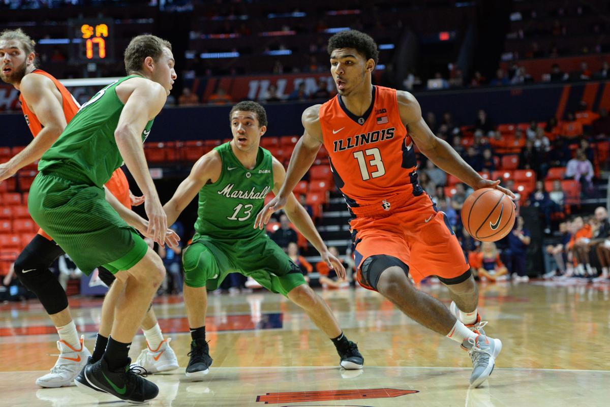 COLLEGE BASKETBALL: NOV 19 Marshall at Illinois