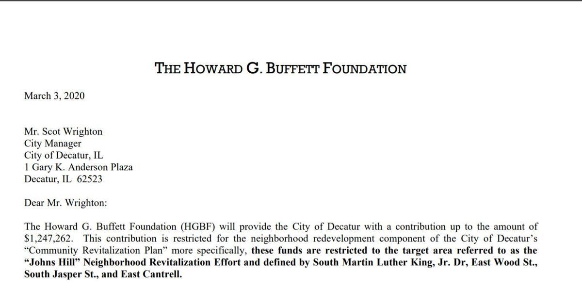 Howard Buffett memo