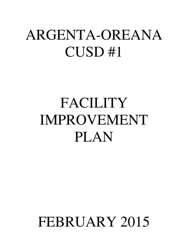 A-O Facilities Plan