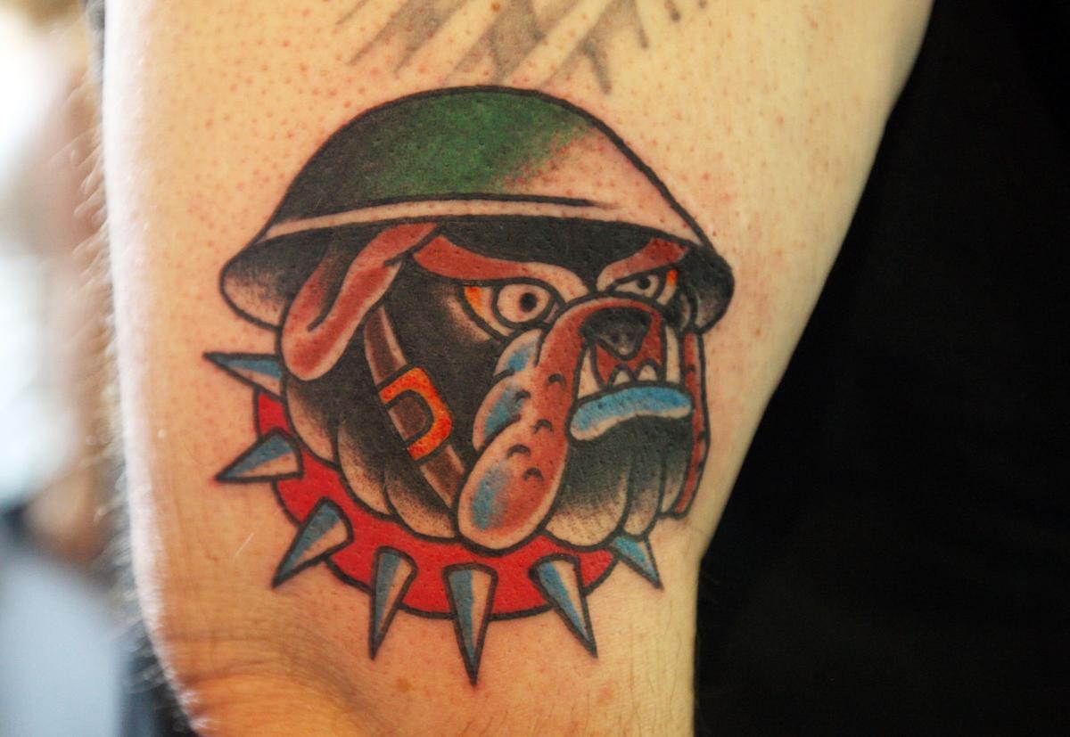 Patriotic tattoos support 9 11 memorial fund local for Oakwood tattoo decatur il