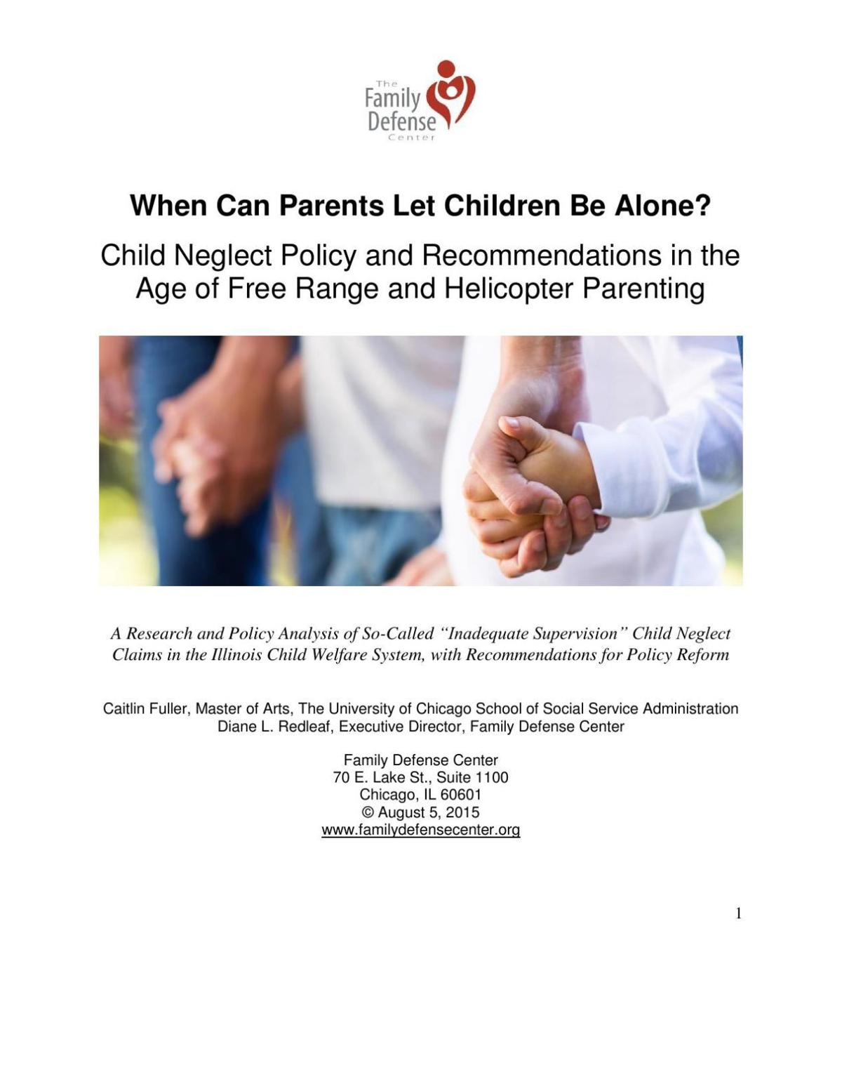 When Can Parents Let Children Be Alone?