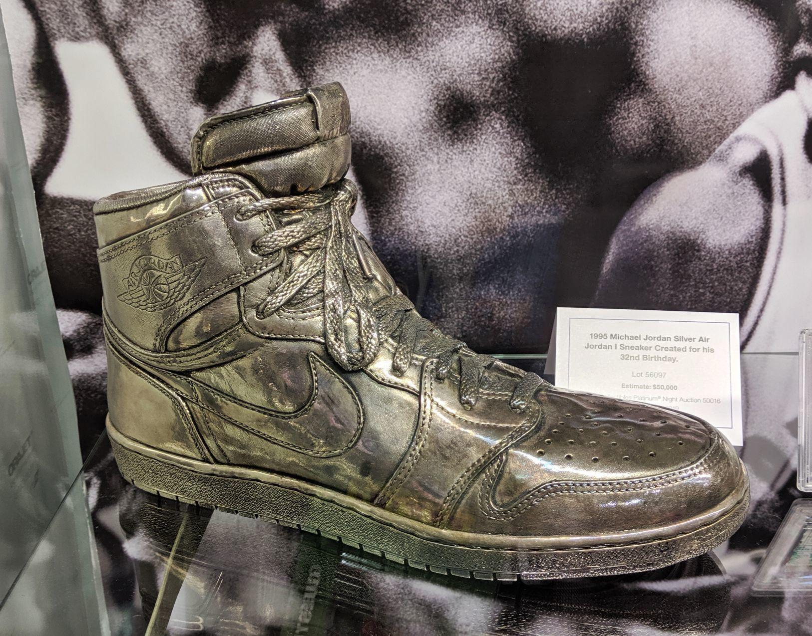 Michael Jordan Silver Shoe     herald