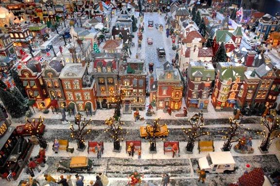 Collection Turns Garage Into A Miniature Winter Wonderland