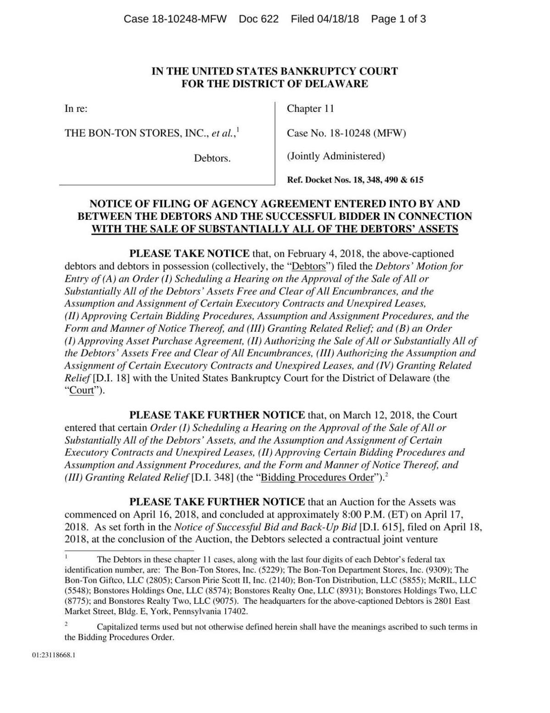 Bon-Ton court filing