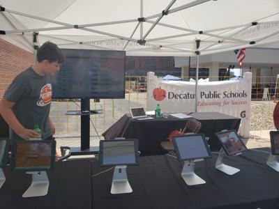 Decatur public school booth
