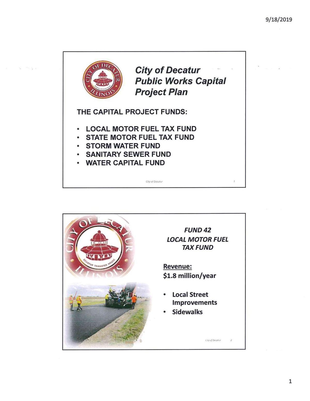 City of Decatur Public Works Capital Project Plan