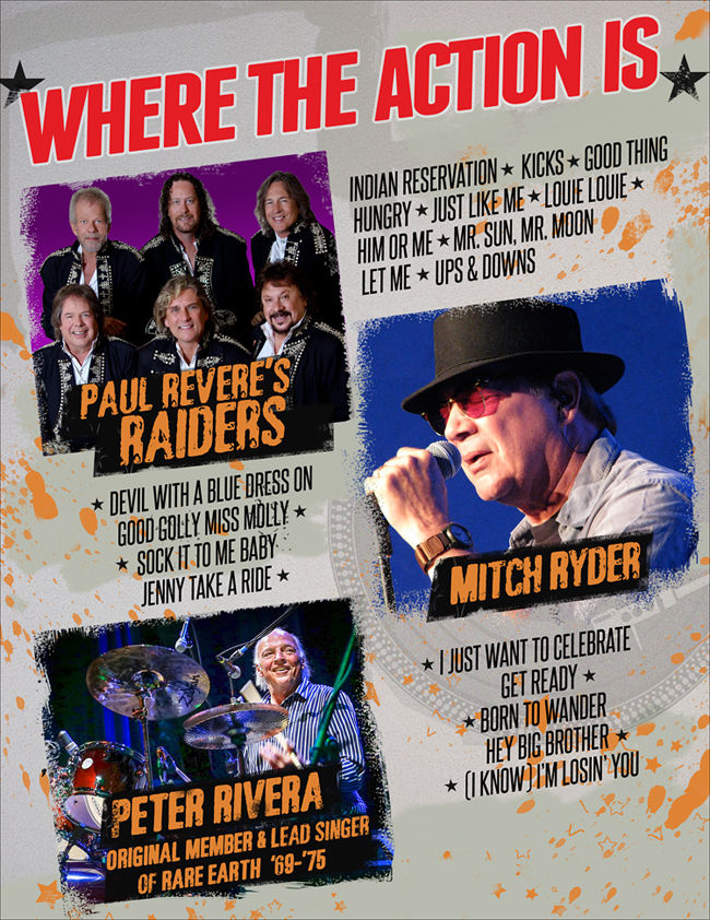 Paul Revere's Raiders, Peter Rivera & Mitch Ryder