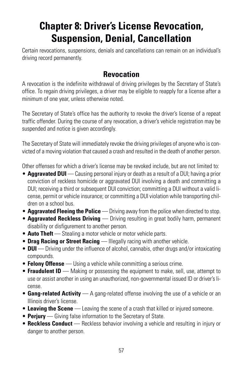 illinois drivers license suspension rules