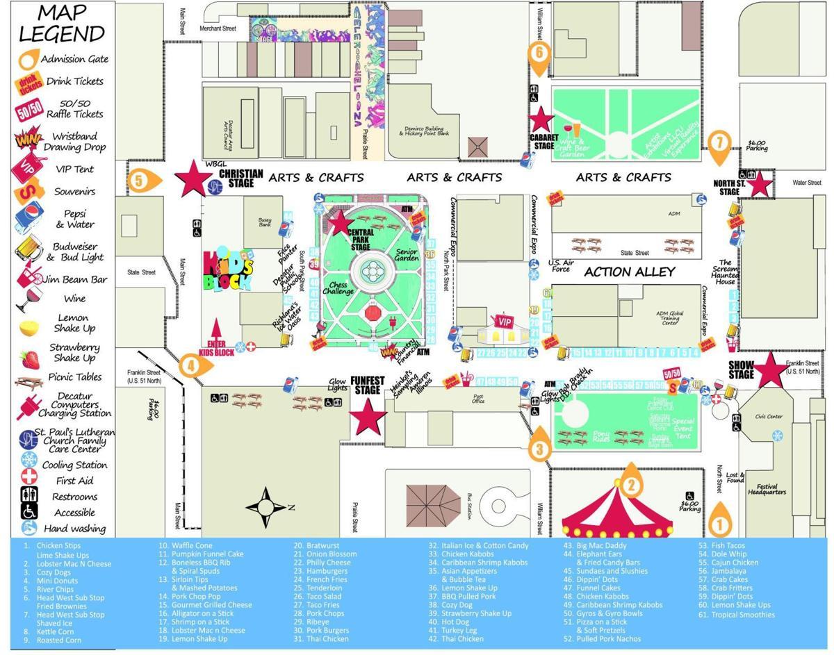 Decatur Celebration 2017 map