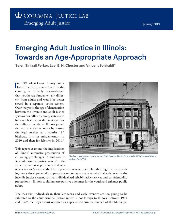 Juvenile Justice Report