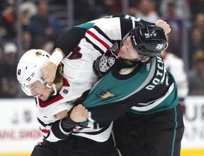 Blackhawks Ducks Hockey