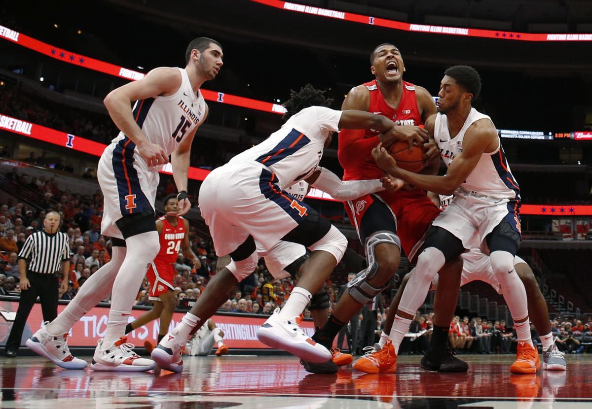 APTOPIX Ohio St Illinois Basketball