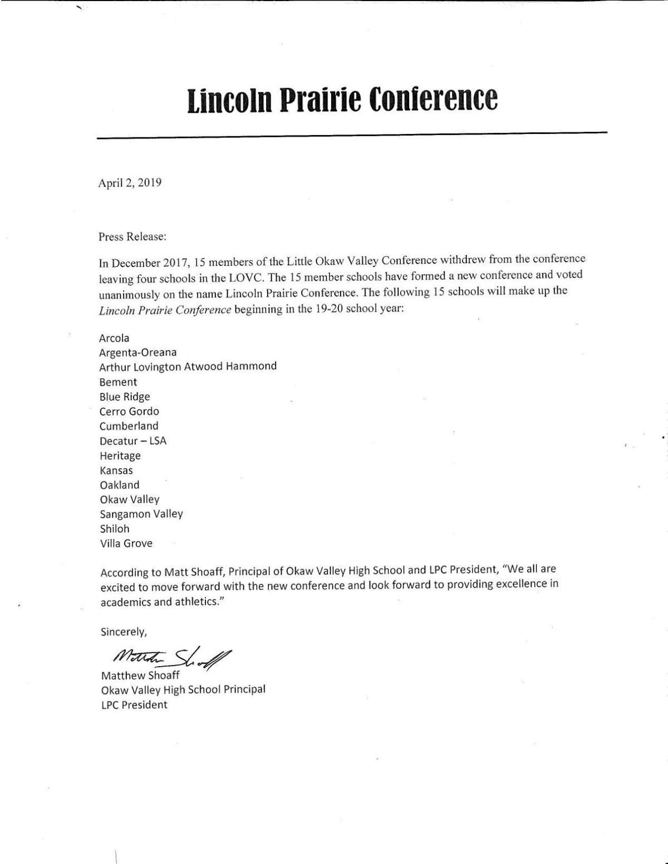 Lincoln Prairie release