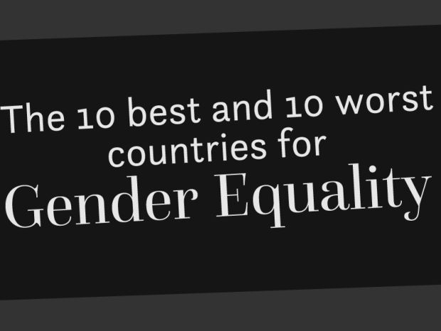 The 10 best and 10 worst countries for gender equality