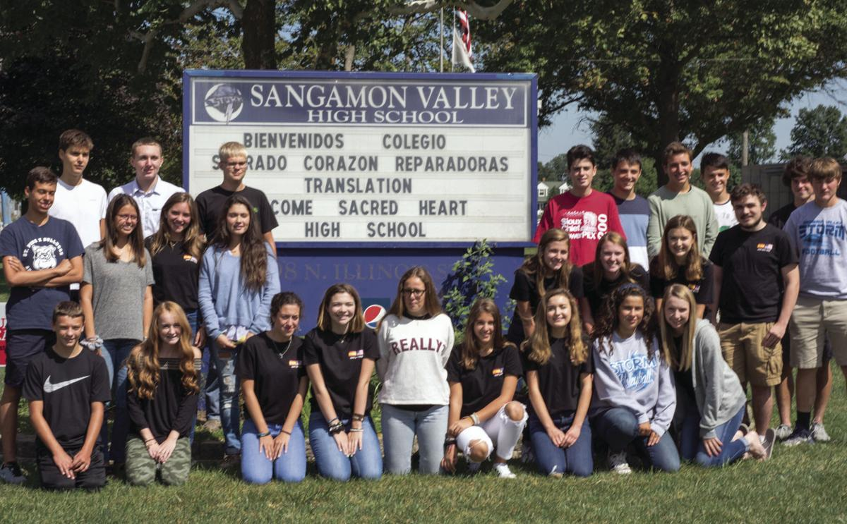 Sangamon Valley Spain students