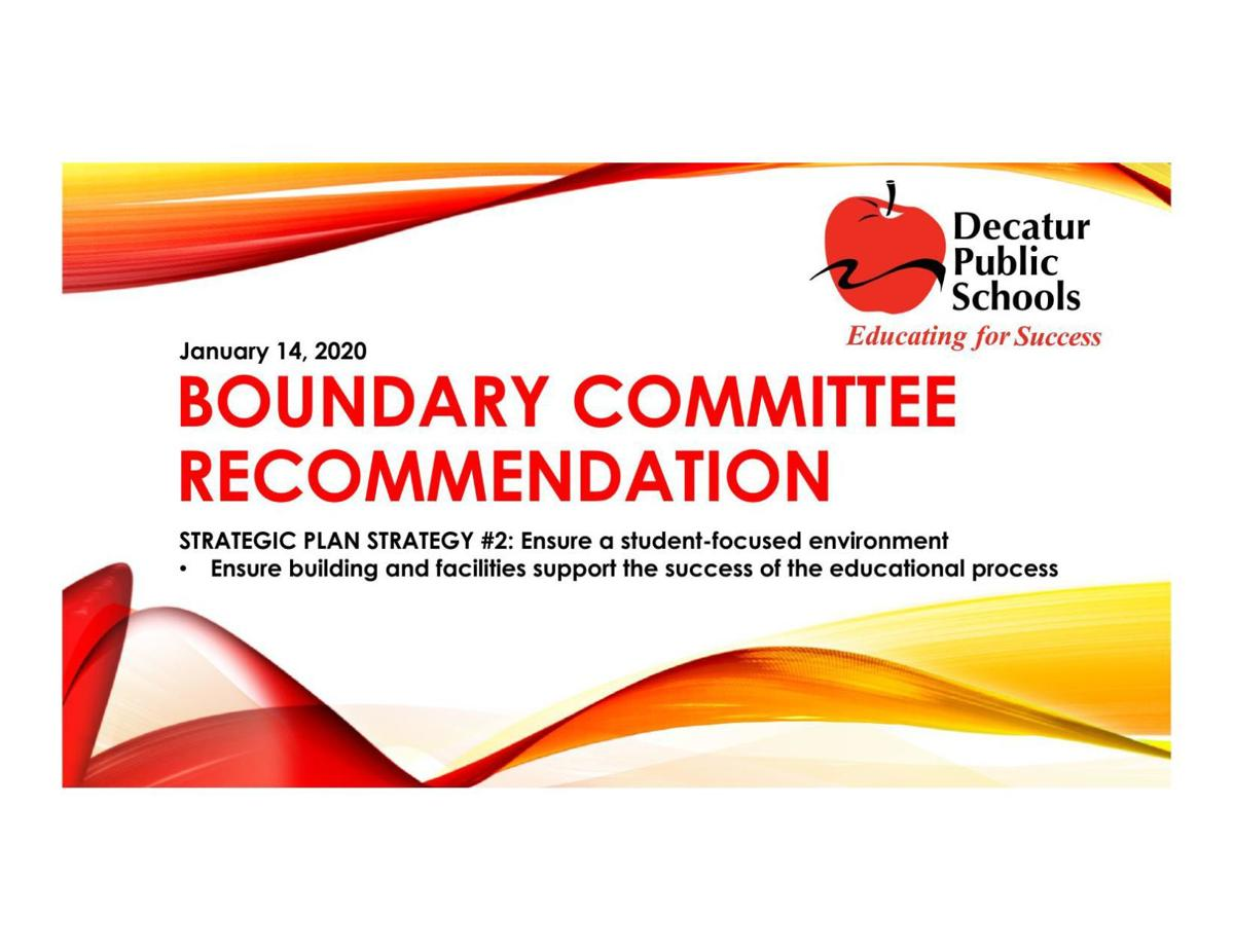 Decatur Public Schools Jan. 14 Boundary Presentation