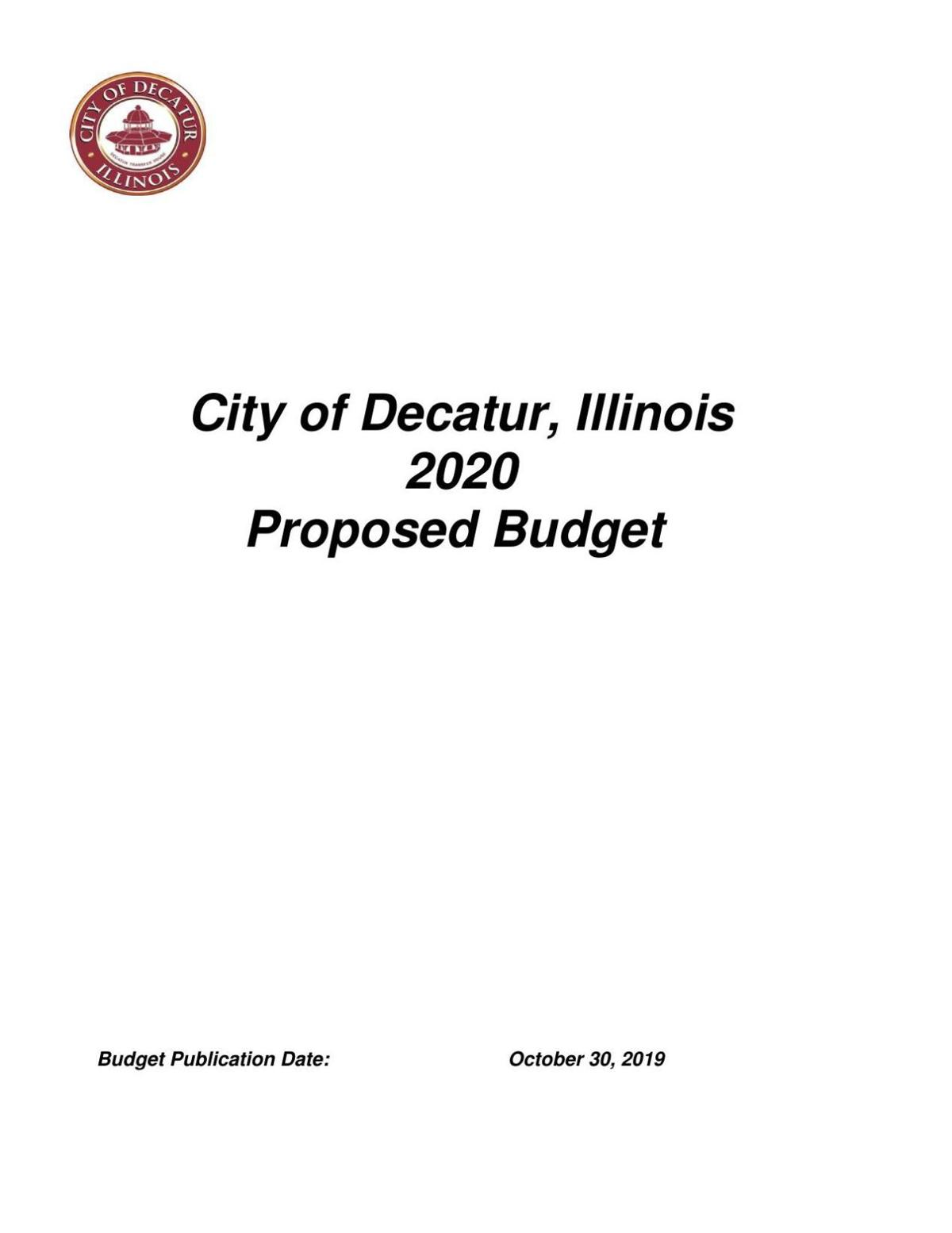 City of Decatur 2020 Proposed Budget