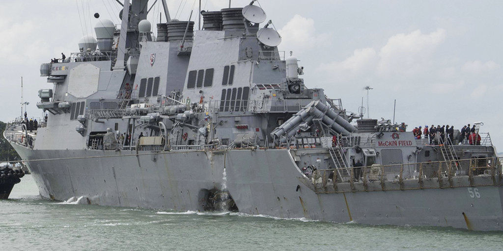 US Navy Ship Collision New Jersey
