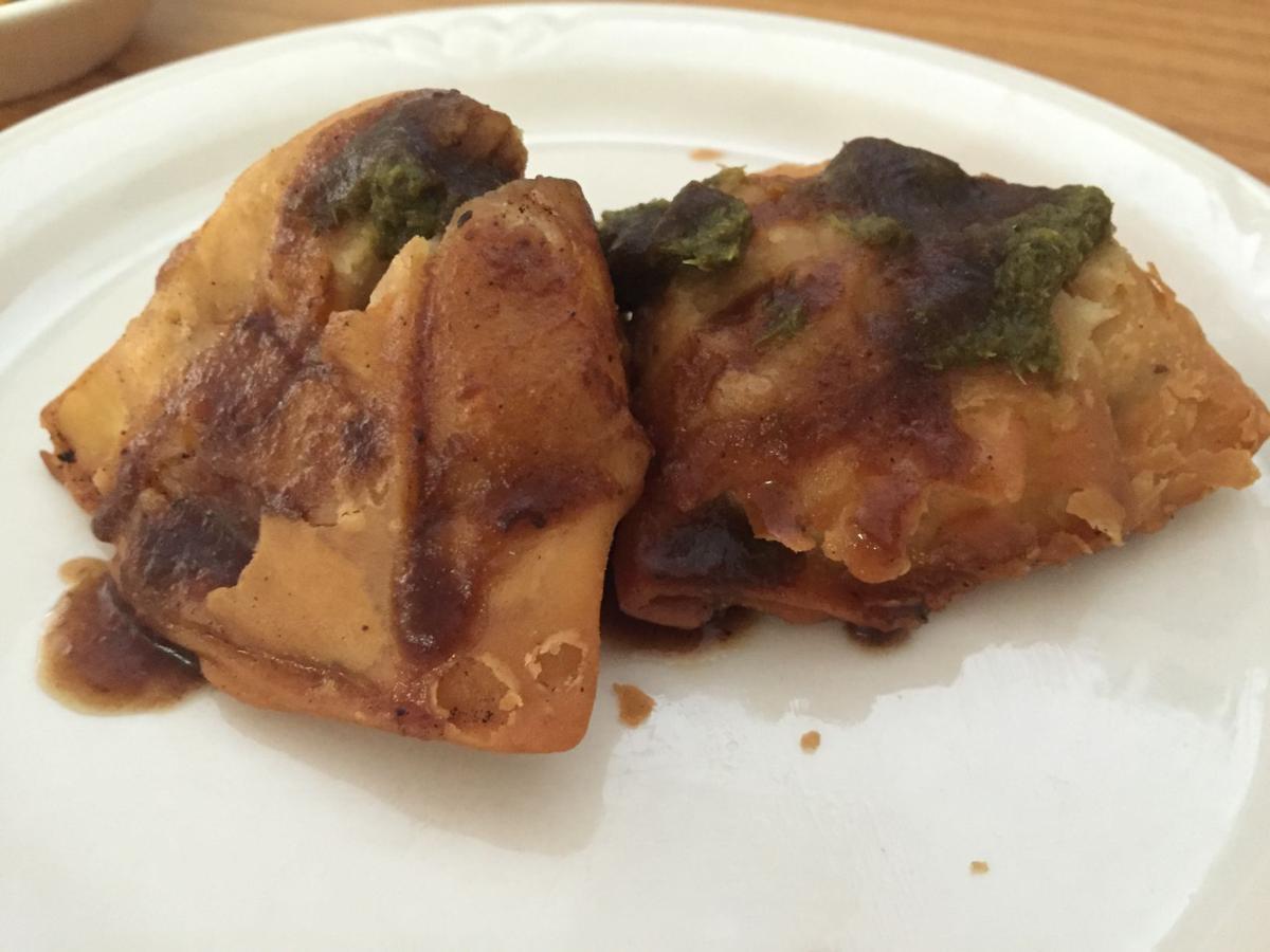 Samosa chaat - Maharani Indian Kitchen