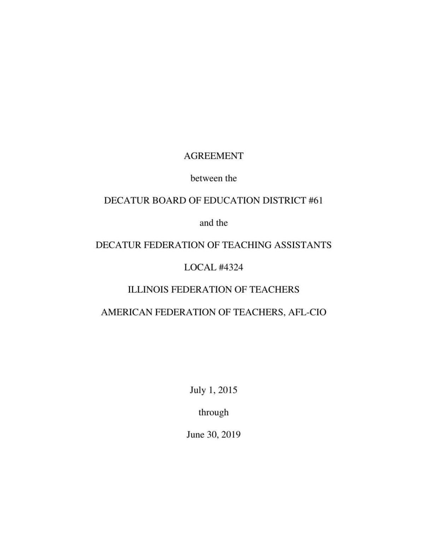 DFTA Current Contract