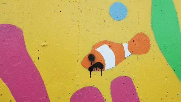 mural vandalized