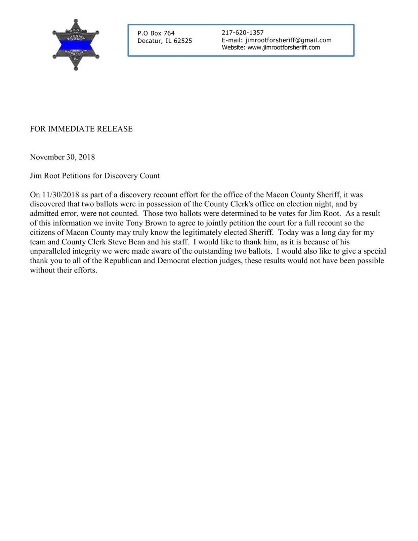 Jim Root Recount