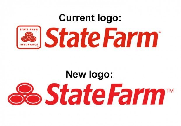 Shown are the current logo and the new logo that State Farm will use  starting Jan. 1. State Farm made the announcement and released the new logo  design Dec.