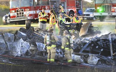 Video shows fiery semitruck crash that killed 3 on I-39 near