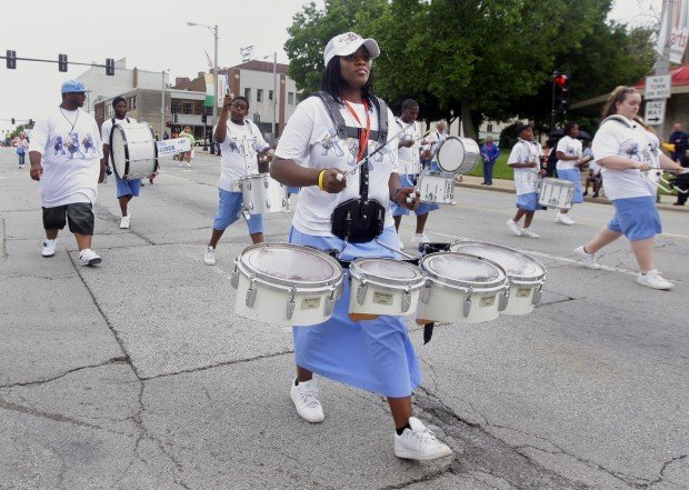 Beat on the street: Drill Team Extravaganza Parade inspires