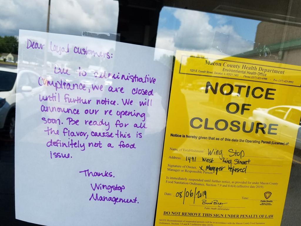 Inspection: Decatur restaurant's permit suspended after