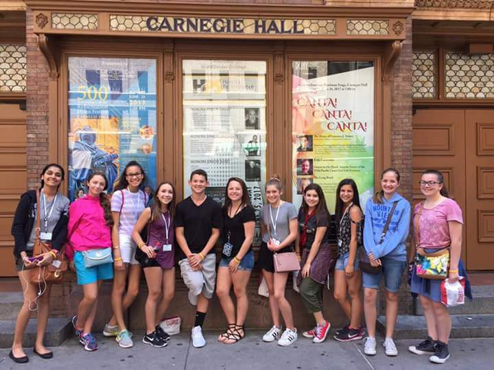 Carnegie Hall choral group