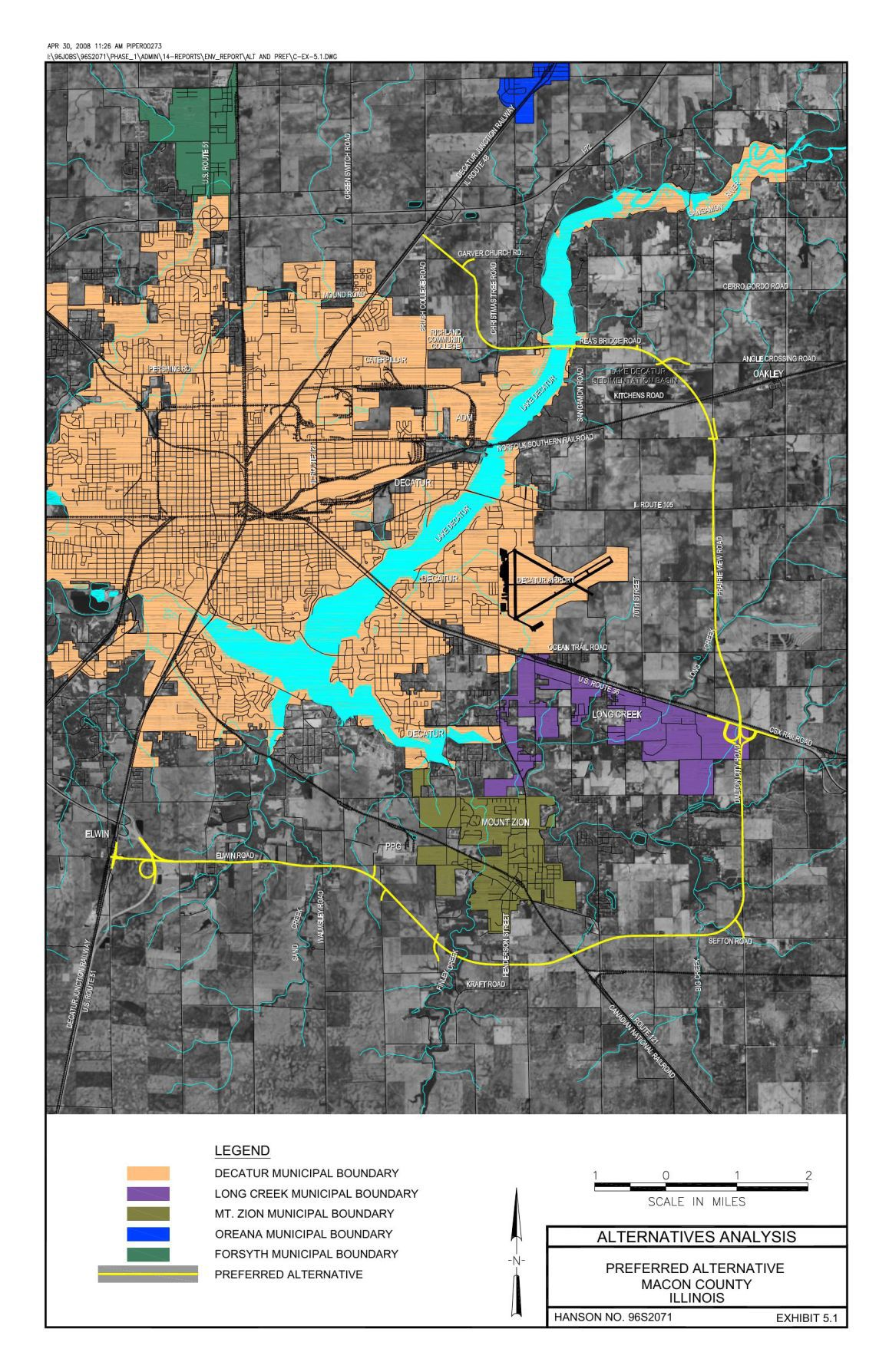 Decatur Illinois Map.Macon County Reaches Tentative Agreement For Beltway Land