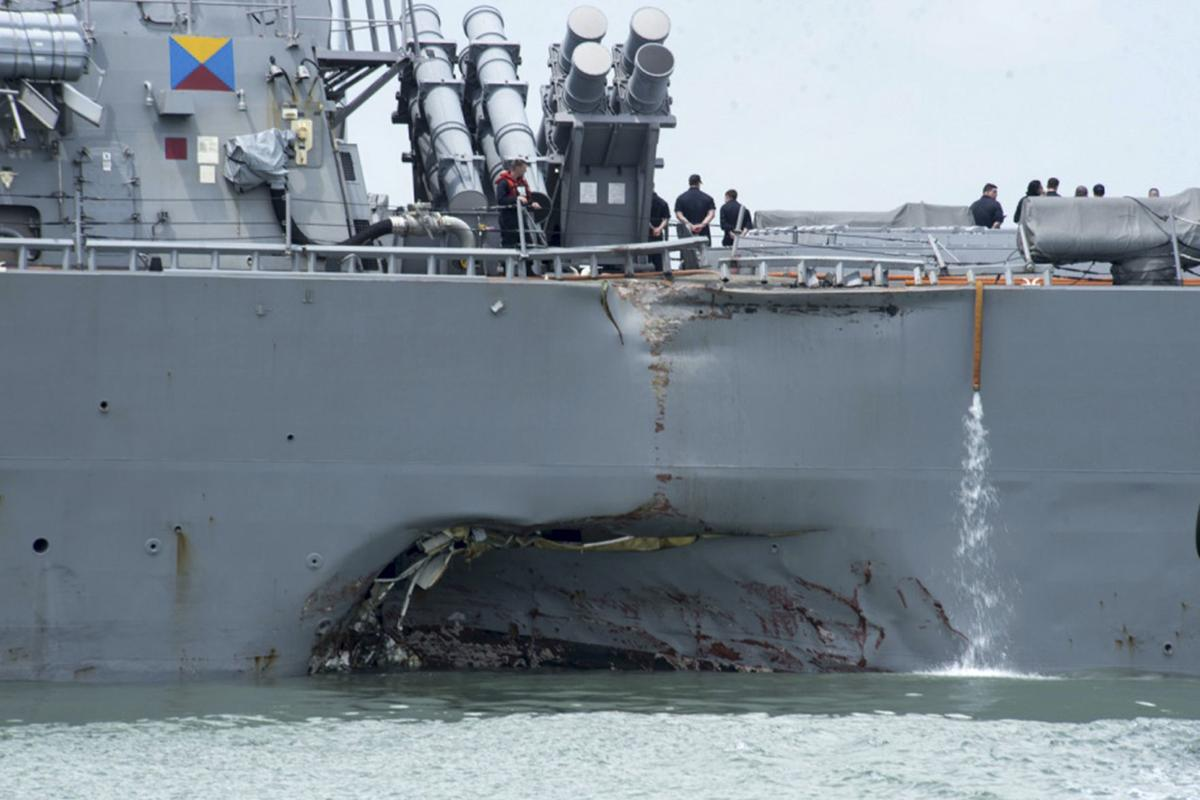 Navy Collisions Charges