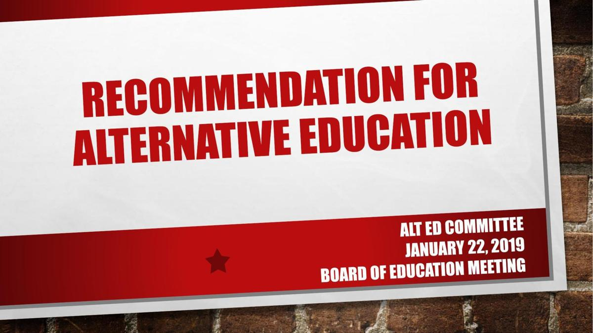 DPS Alternative Education Recommendation