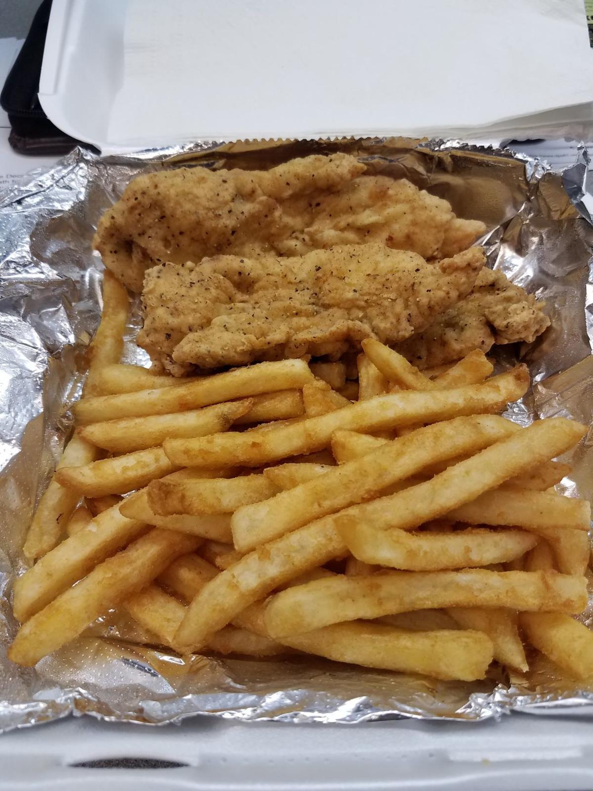 Chicken fingers at Downtown Cafe