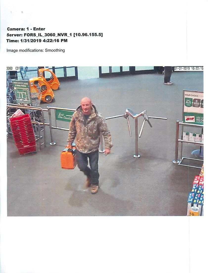 UPDATE: Sheriff's Office says man who stole from Menards has