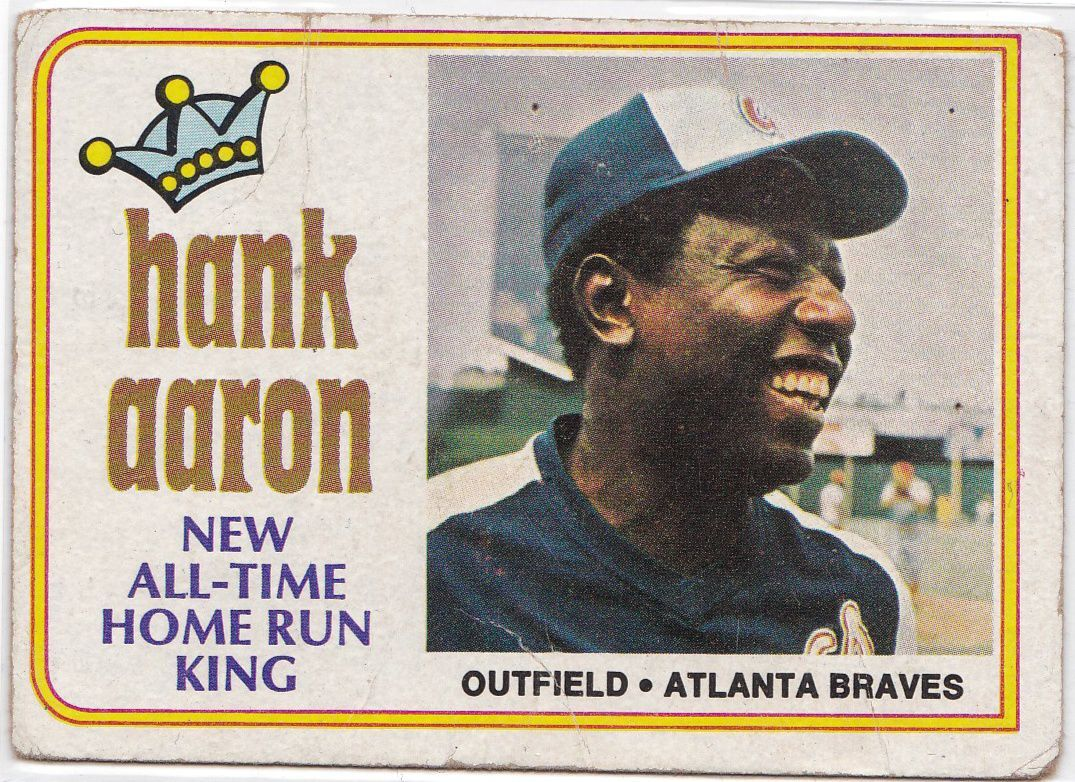 1974 Topps No. 1 - Hank Aaron New All-Time Home Run King