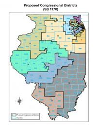 New Illinois Congressional Map Released Macon County In Single - Illinois 13th congressional district