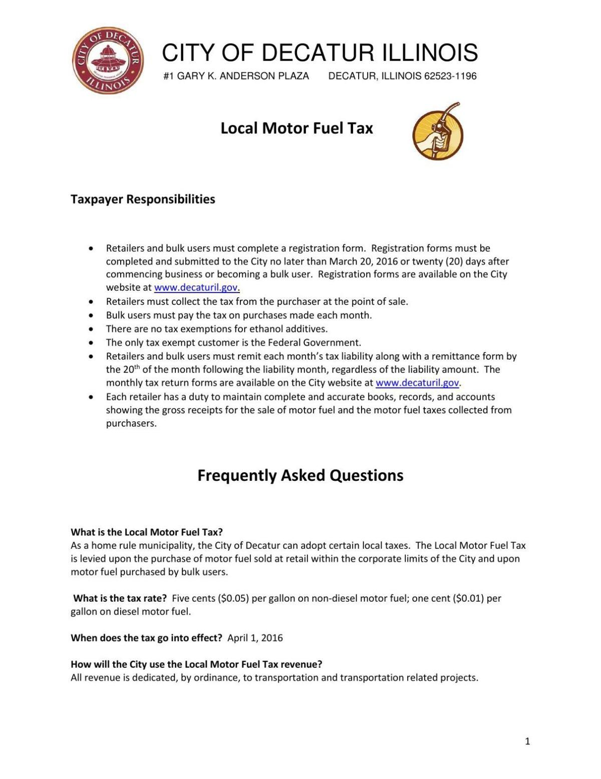 Download PDF City Local Motor Fuel Tax document