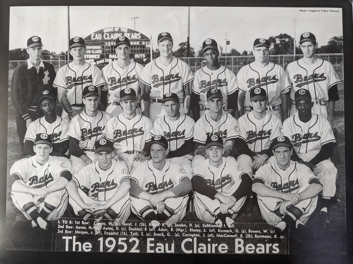 Hank Aaron - 1952 Eau Claire Bears Team Photo