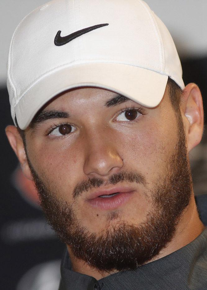 Mitchell Trubisky, Bears, NFL, 2018 hedshot