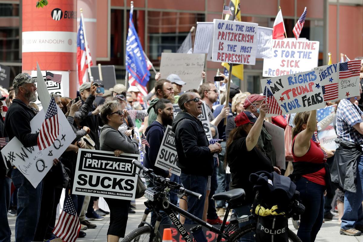 Virus Outbreak Illinois Reopen Protest